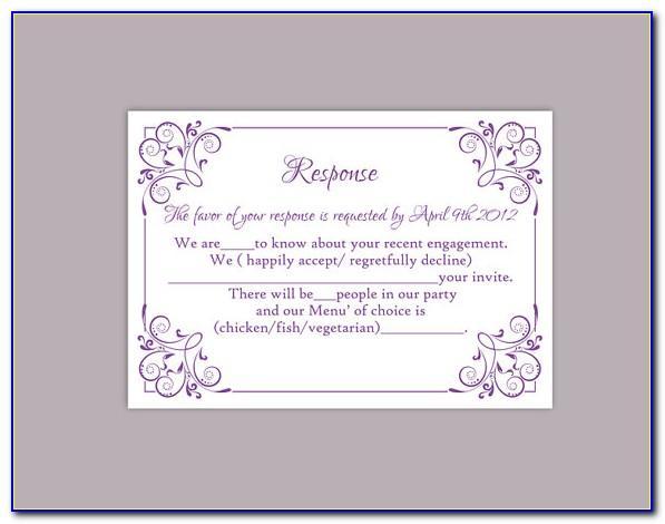 Wedding Rsvp Template Excel
