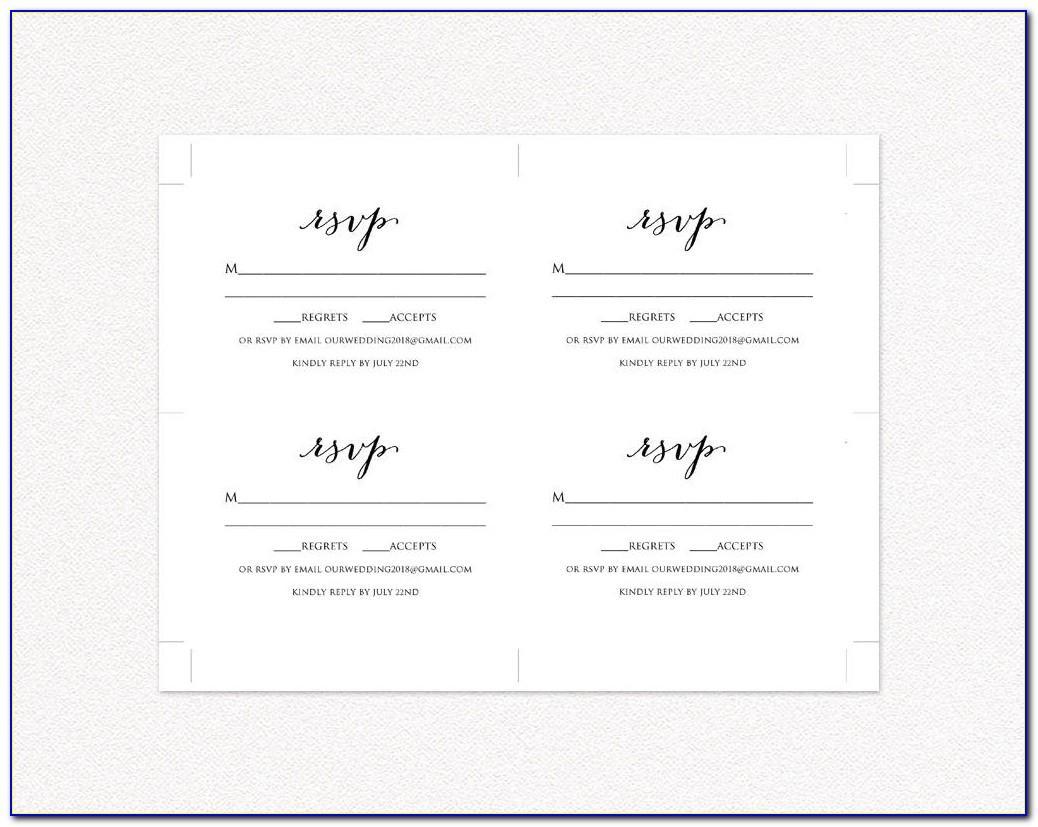 Wedding Rsvp Template Printable