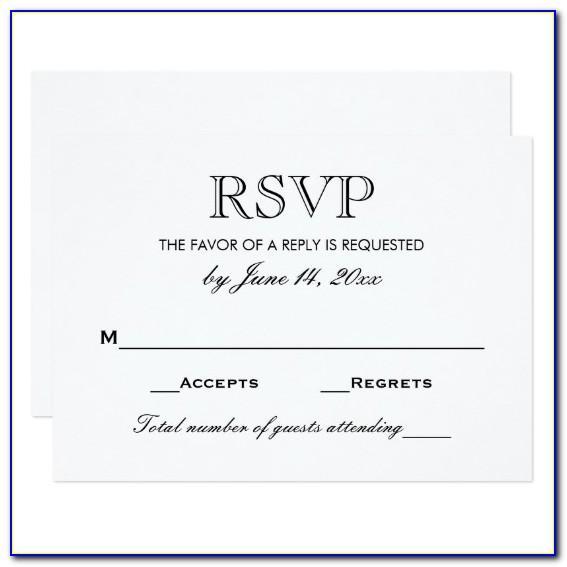 Wedding Rsvp Template Uk