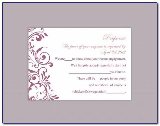 Wedding Rsvp Templates Free Download