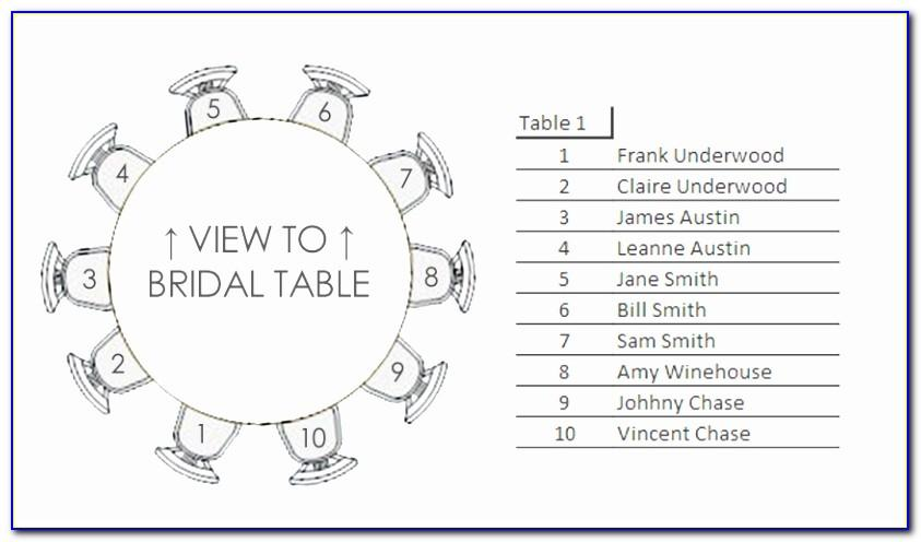 Wedding Seating Chart Microsoft Excel