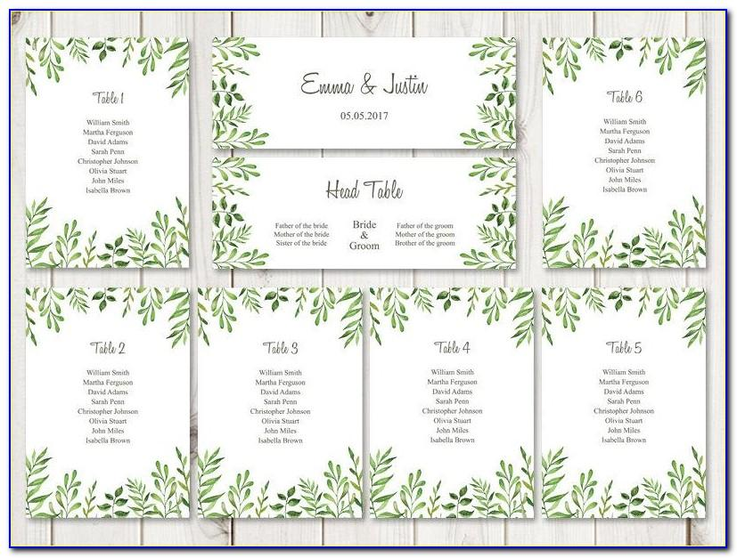 Wedding Seating Chart Templates Free