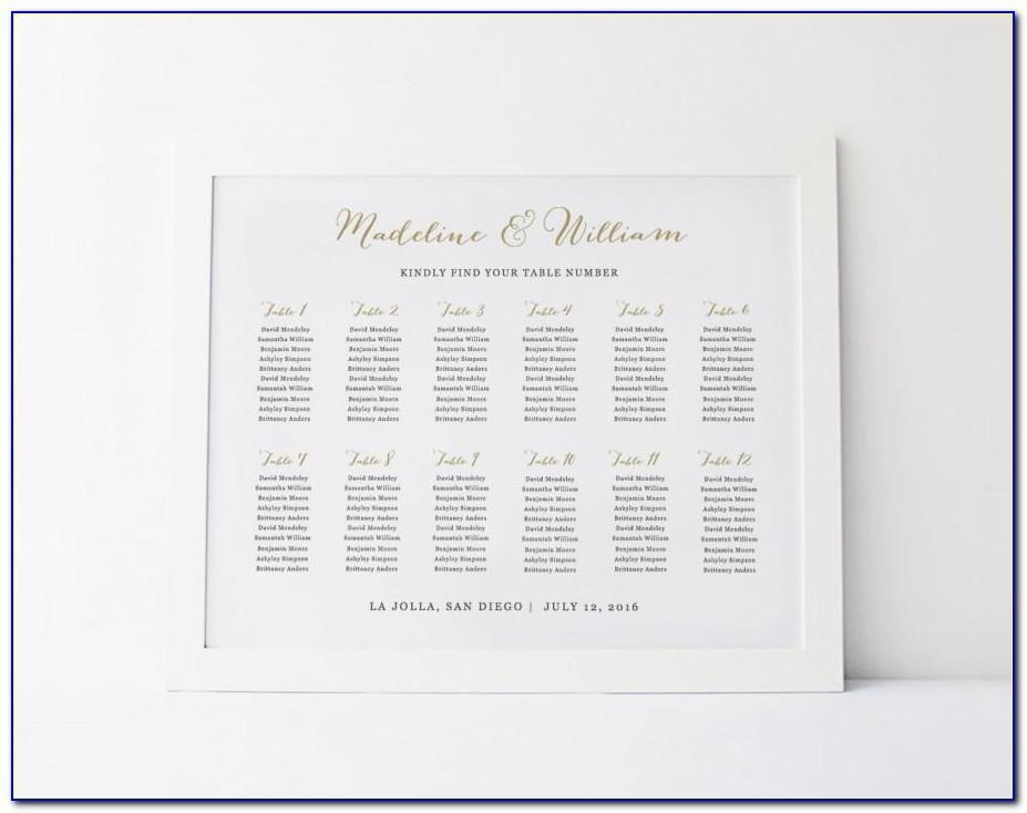Wedding Seating Chart Templates Word