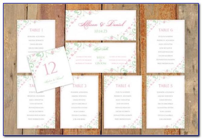 Wedding Seating Plan Template