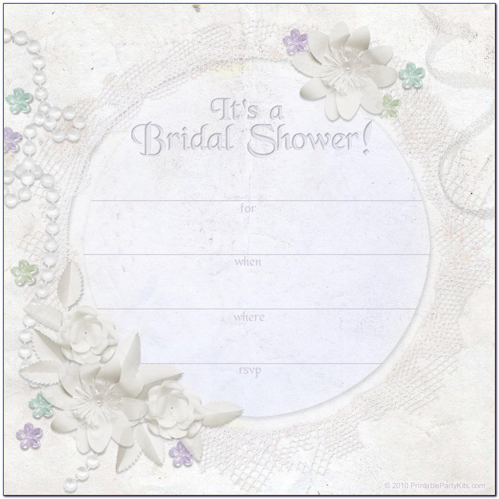 Wedding Shower Invitation Template Printable