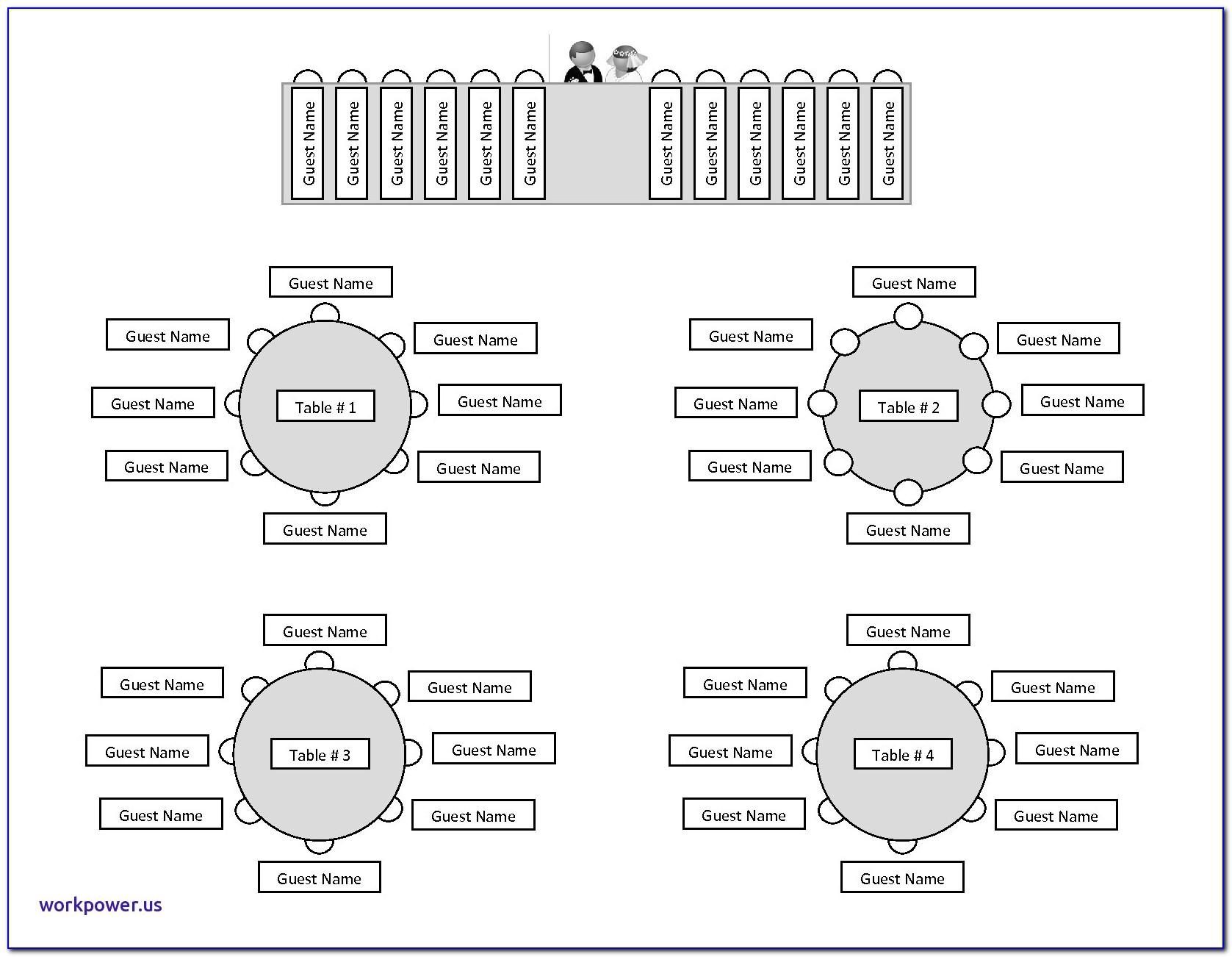 Wedding Table Seating Chart Template Excel