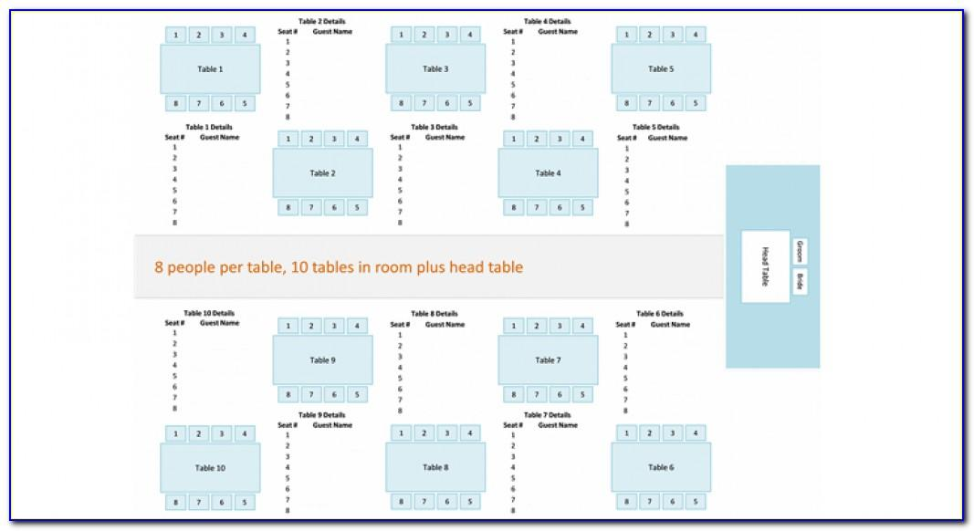 Wedding Table Seating Plan Template Free Download