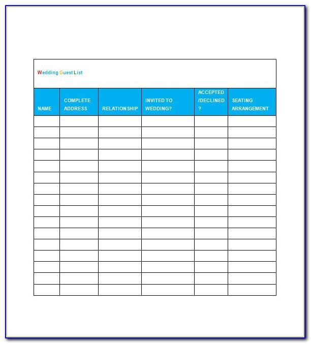 Wedding To Do List Template Uk