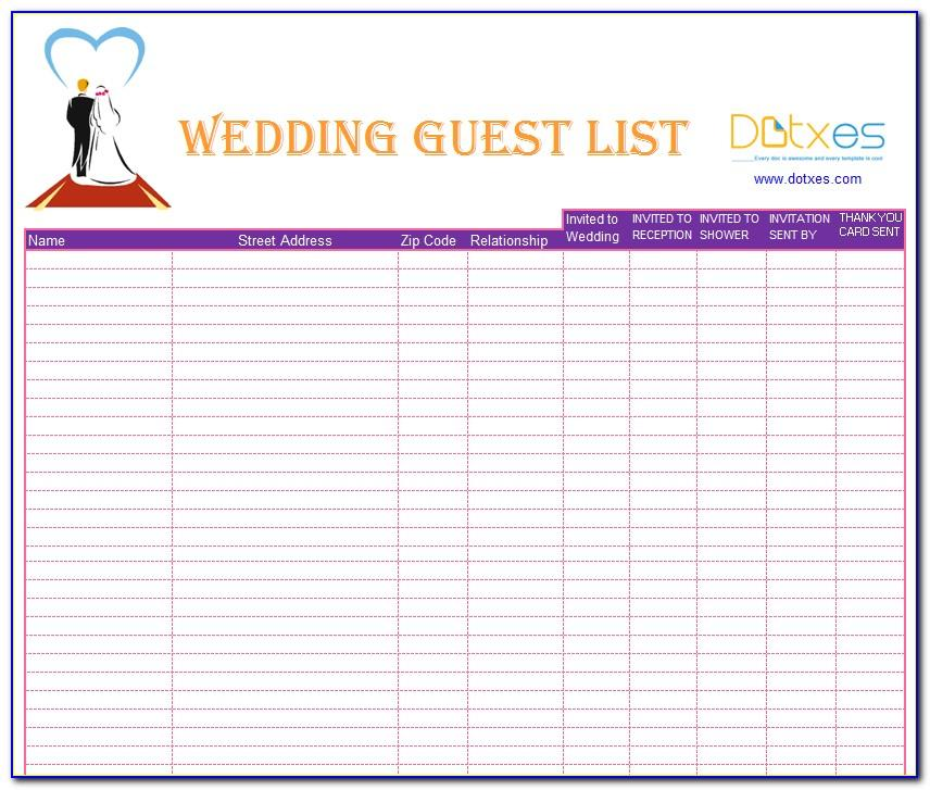 Wedding To Do List Template Word