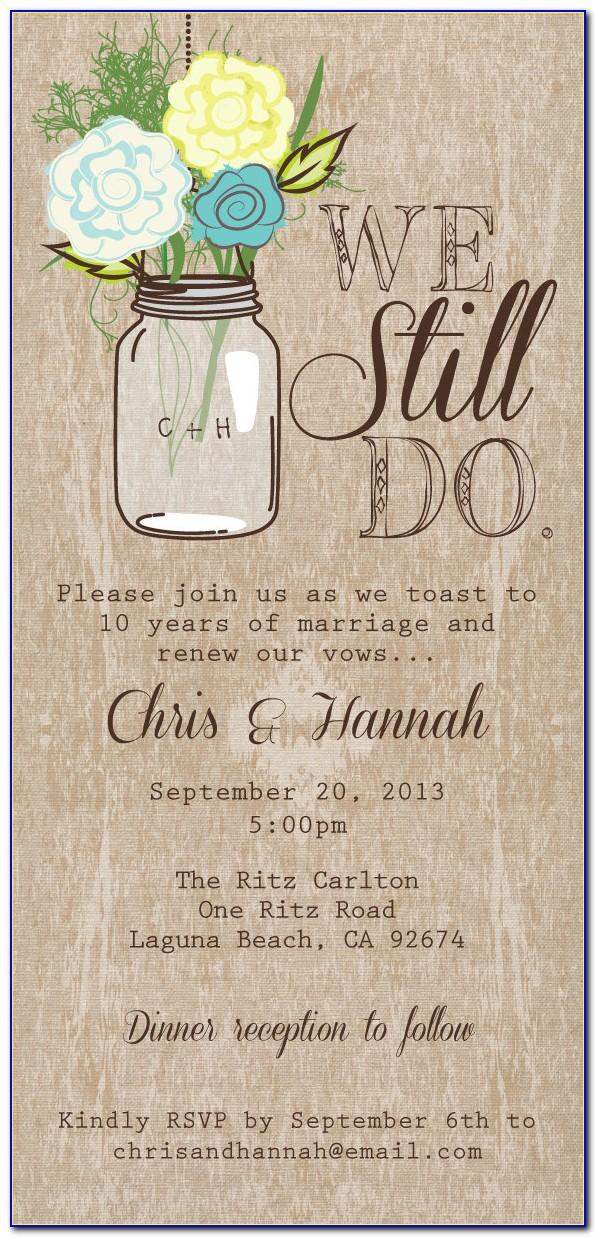 Wedding Vow Renewal Invitations Templates