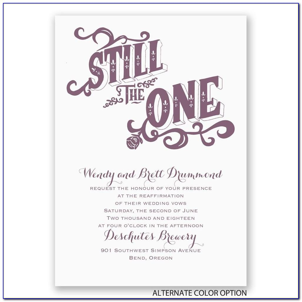 Wedding Vow Renewal Invitations Wording Samples