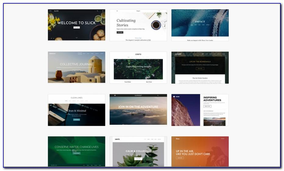 Weebly Web Page Templates
