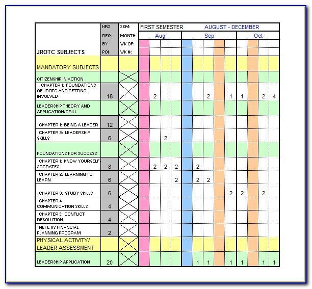 Week Training Schedule Template