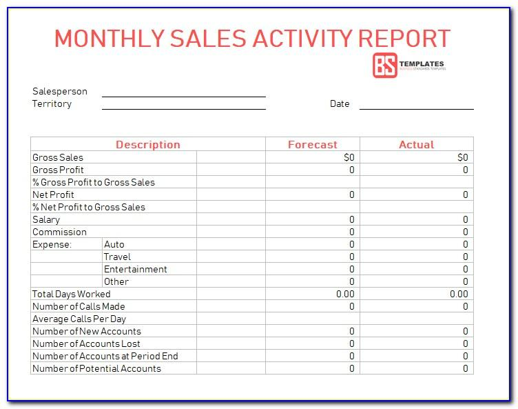 Weekly Activity Report Template Excel Free Download