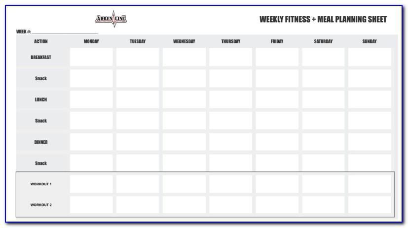 Weekly Exercise Log Template