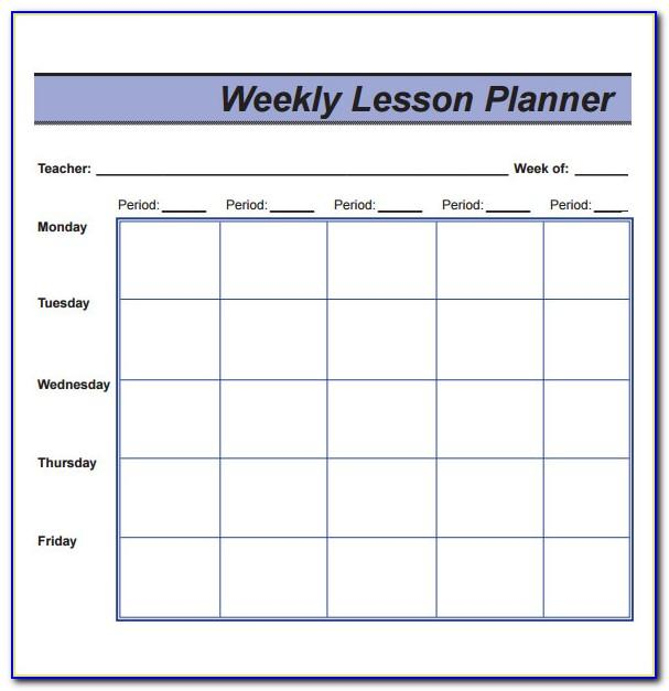 Weekly Hourly Schedule Template Pdf