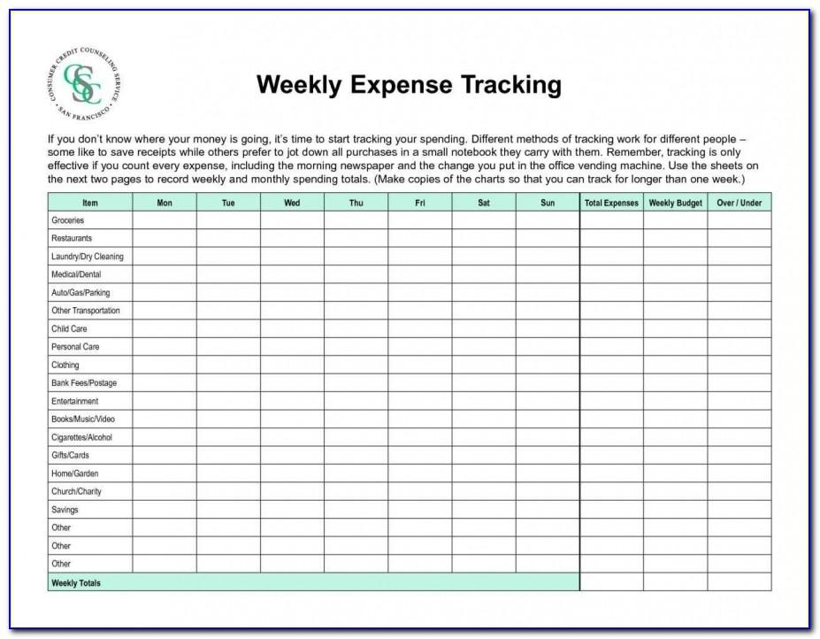 Weekly Invoice Template Excel