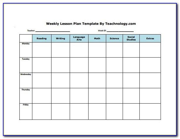 Weekly Plan Template Pdf