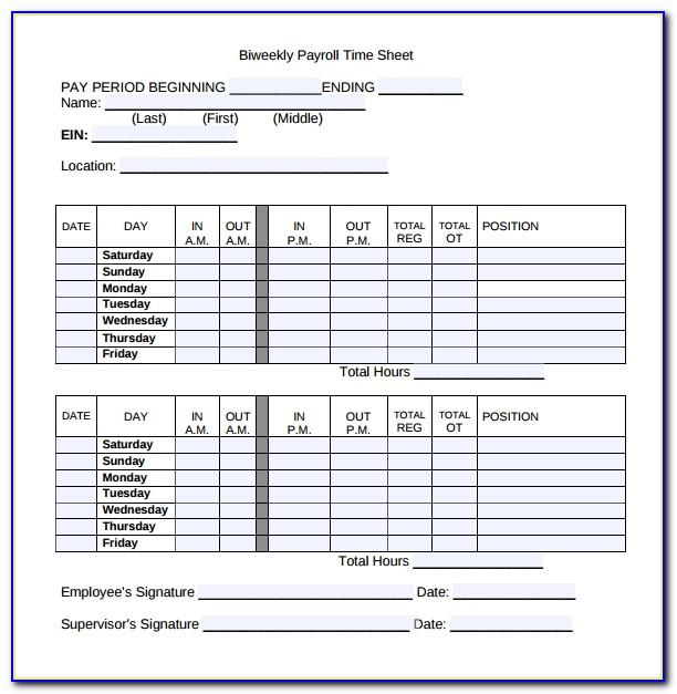 Weekly Planner Template Excel