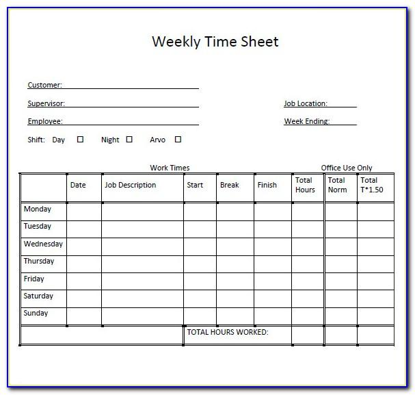 Weekly Planning Template Excel