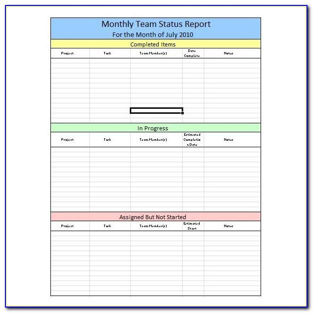 Weekly Project Schedule Template Excel