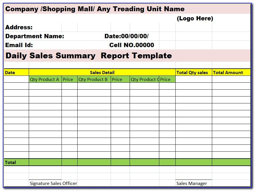 Weekly Report Template Free Download