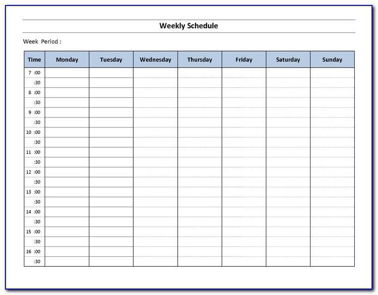 Weekly Timesheet Template Excel Uk