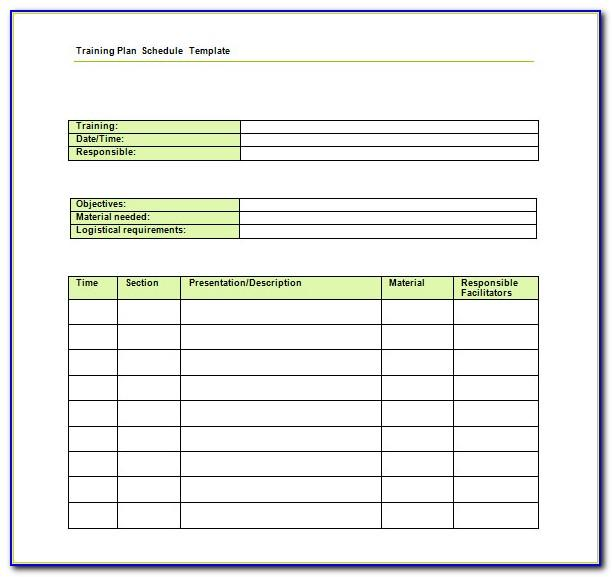 Weekly Weight Training Schedule Template