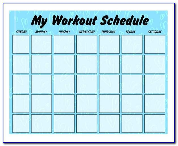 Weekly Workout Schedule Template Excel