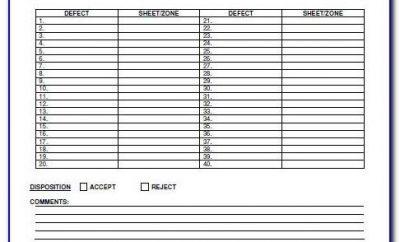 Welding Visual Inspection Report Format