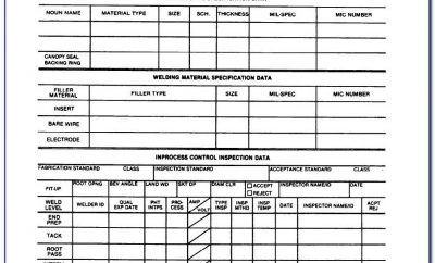 Welding Visual Inspection Report Template