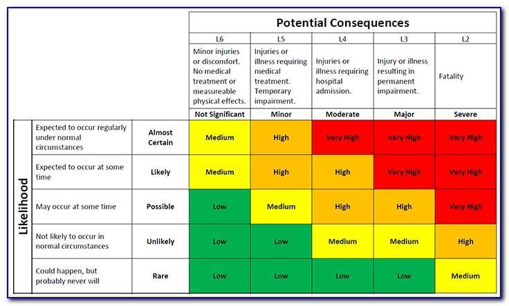 Whs Risk Assessment Example