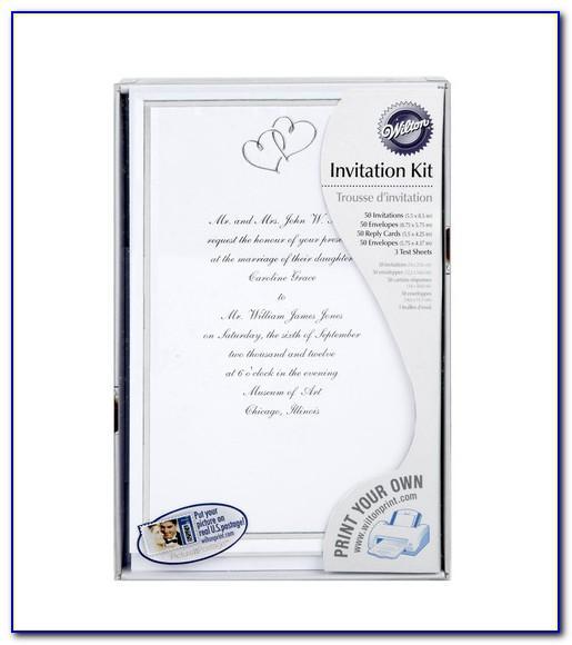 Wilton Wedding Invitation Kit Templates