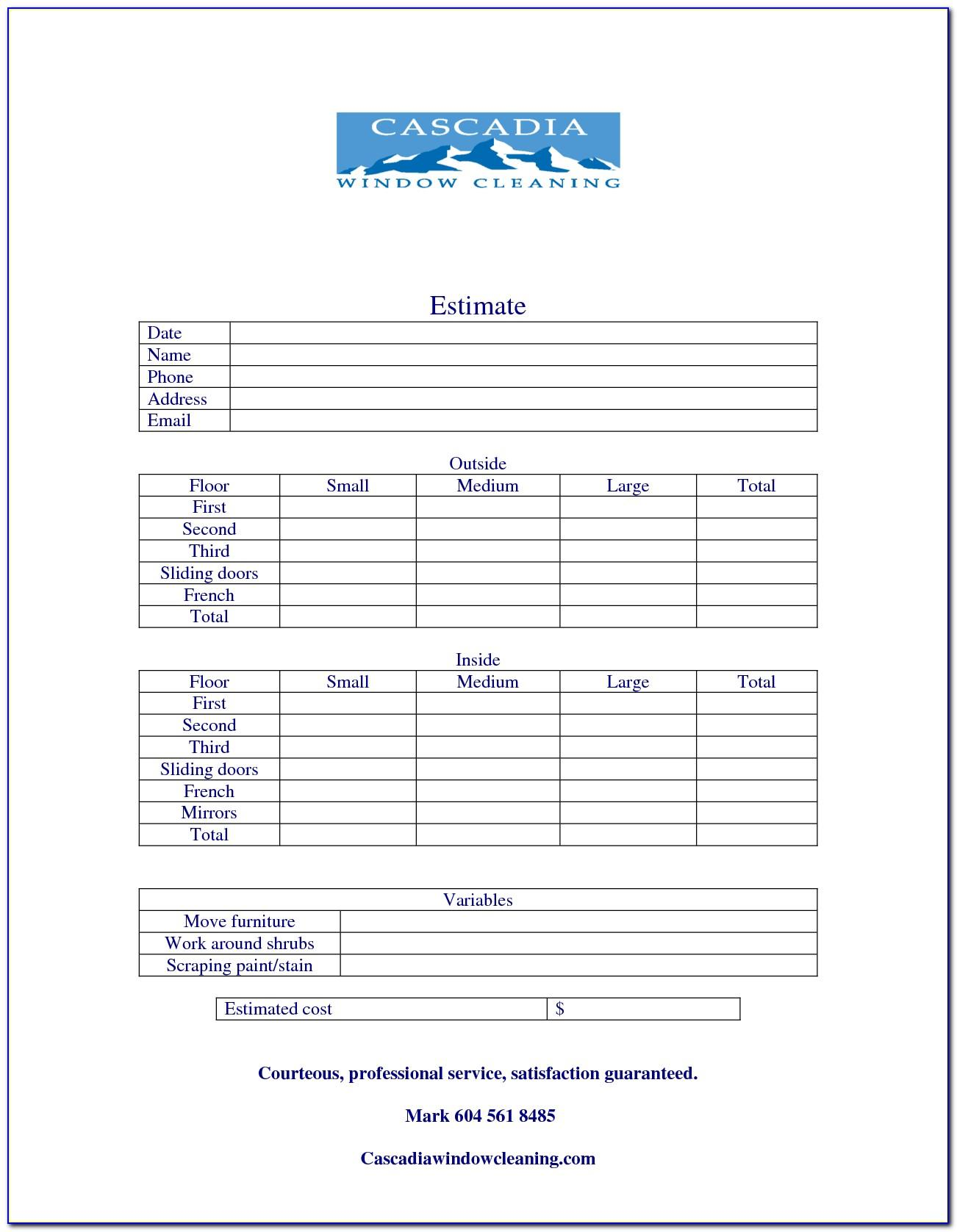 Window Cleaning Contract Forms