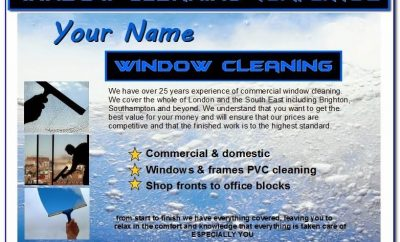 Window Cleaning Invoice Template