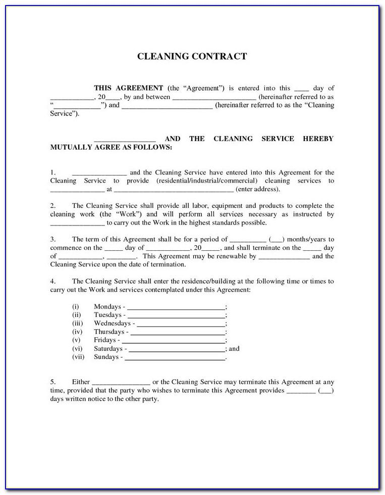 Window Cleaning Service Agreement Template