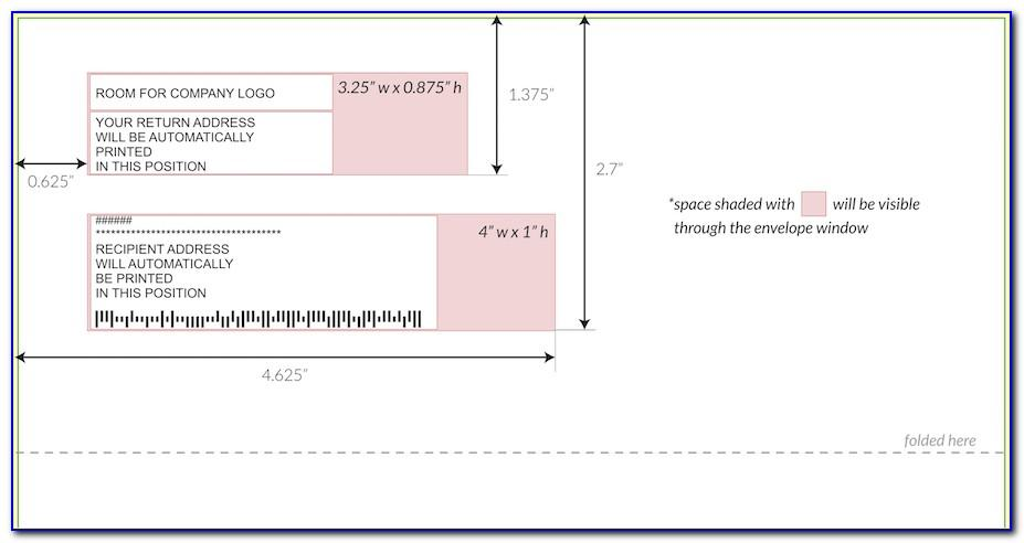 Window Envelope Printing Template