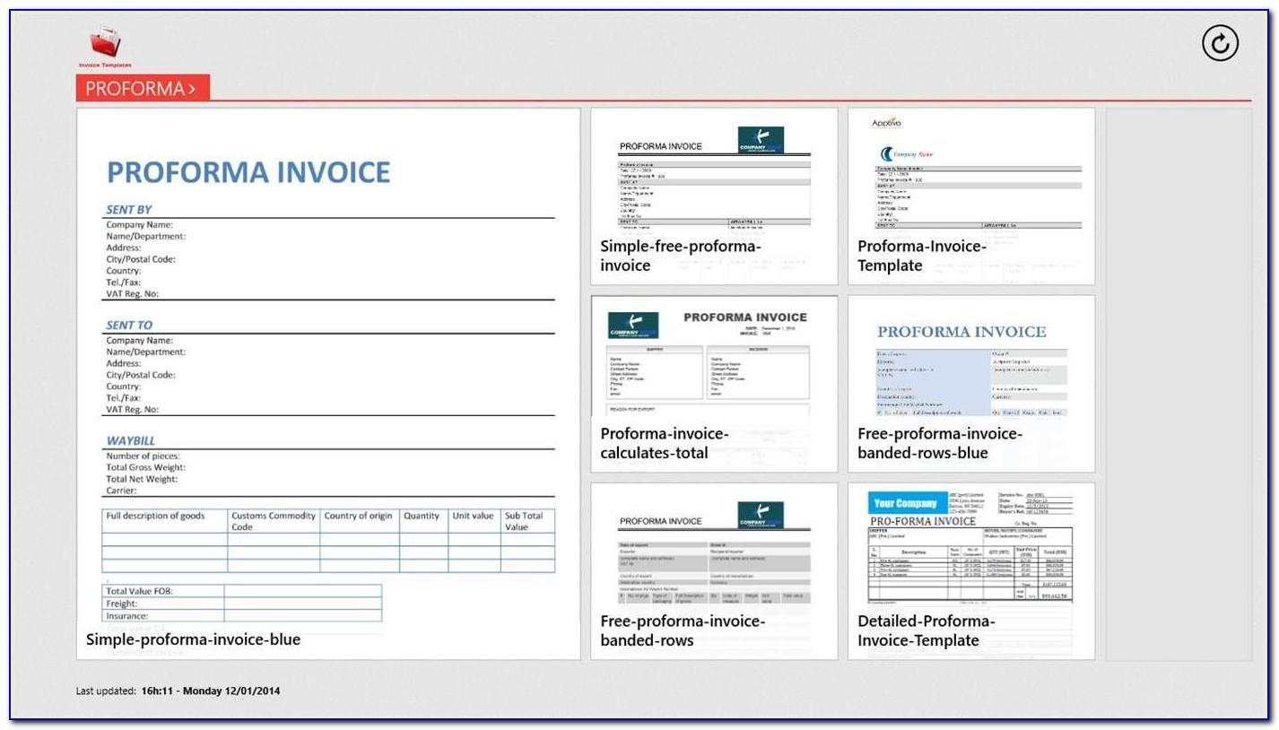 Windows 8 Invoice Template