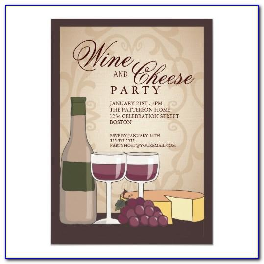Wine And Cheese Invitation Samples