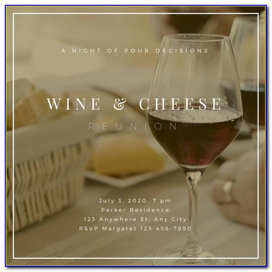 Wine And Cheese Party Invitation Template Free