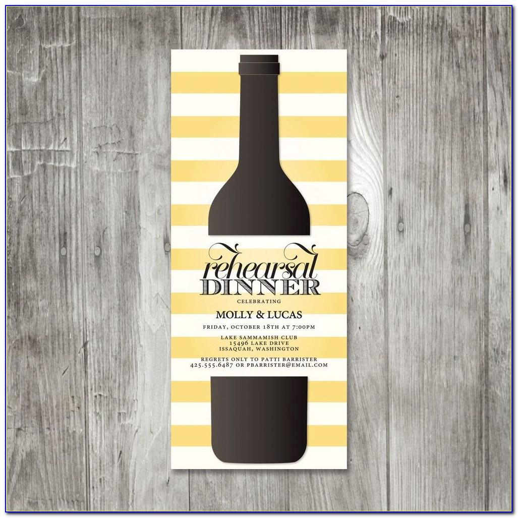Wine Bottle Invitation Template Free
