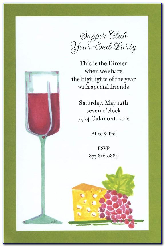 Wine Bottle Invitation Template