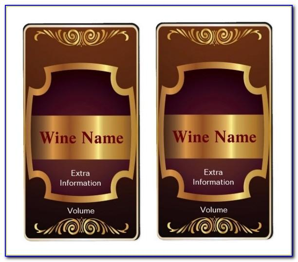 Wine Bottle Label Template Illustrator