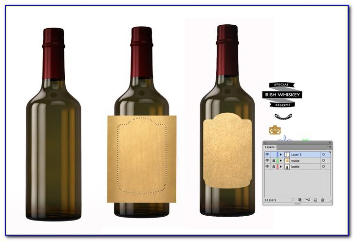 Wine Bottle Neck Tag Free Template