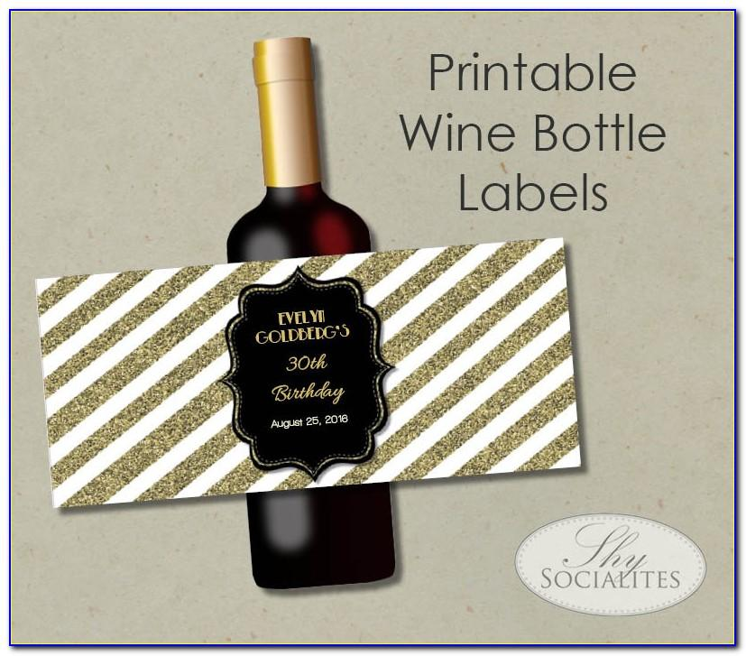 Wine Bottle Tags Template