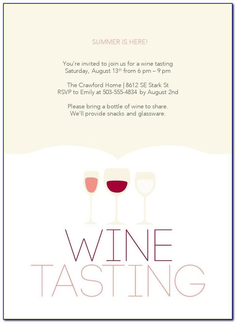 Wine Cheese Invitation Template Free