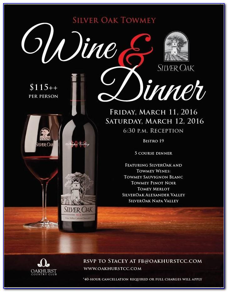 Wine Dinner Invitation Template