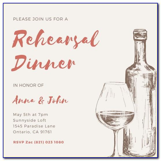 Wine Dinner Invitation Wording