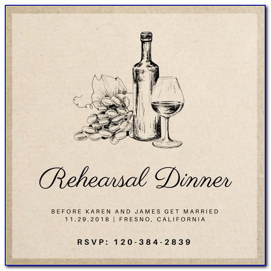 Wine Glass Invitation Templates