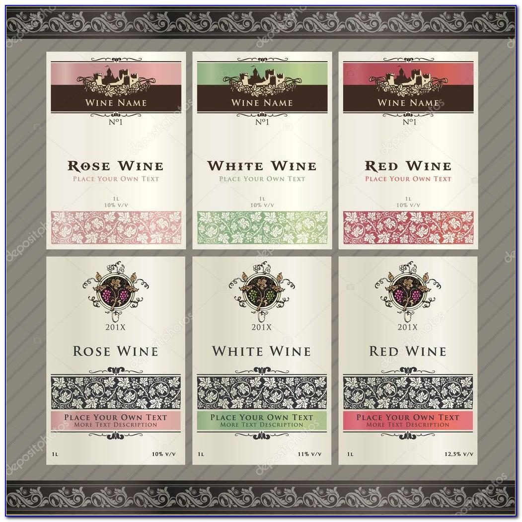 Wine Label Template Free Download